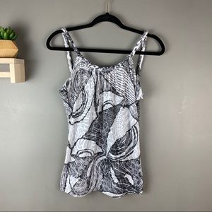 Buckle daytrip tank top black white sz med NWT